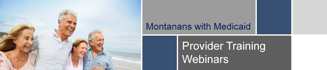 Provider Training Webinars